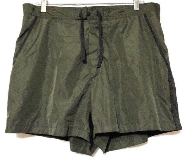 f8b27777543 J. CREW Men's Dark Olive Green Mesh Lined Short Swim Trunk Shorts Size 36