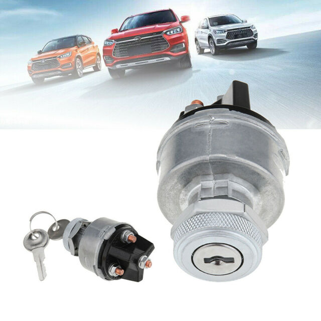 Universal Replacement Ignition Switch Lock Cylinder With 2 Keys For Car Auto CC
