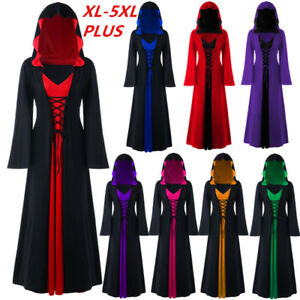 a1f2baff51d Womens Plus Size Lace Up Dip Hem Hoodie Gothic Jacket Long Sleeve ...