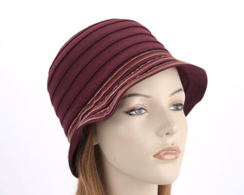 $89.95 Burgundy ladies soft winter casual hat by Max Alexander RRP