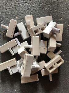 Job Lot 23 Bt Adaptateur Double Téléphone Socket 2 Way Câble Splitter Adaptateur-afficher Le Titre D'origine Les Couleurs Sont Frappantes