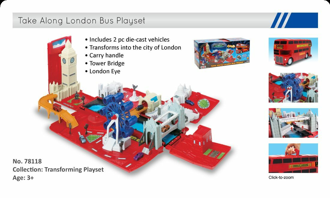 Transforming: Take Along London Bus Playset  No.76456