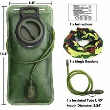 Hydration Bladder 2 Liter Leak Proof Water Reservoir Military Storage Bag BPA