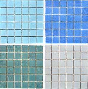 Keramik Mosaik Fliesen Matten Platten Bogen Wand Kuche Blau Grun