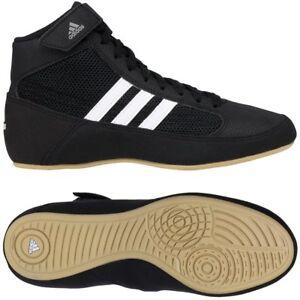 Adidas HVC Black/White Wrestling Shoes Sizes 6 7 8 9 10 11 12 13 14 15