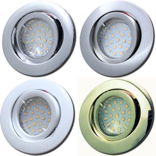 Power LED Spotstrahler 230V SMD Einbauleuchte 7W IP20 Betrieb ohne Trafo möglich