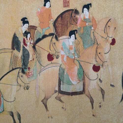 China old silk Thangka like hanging painting Embroidery Figure Painting