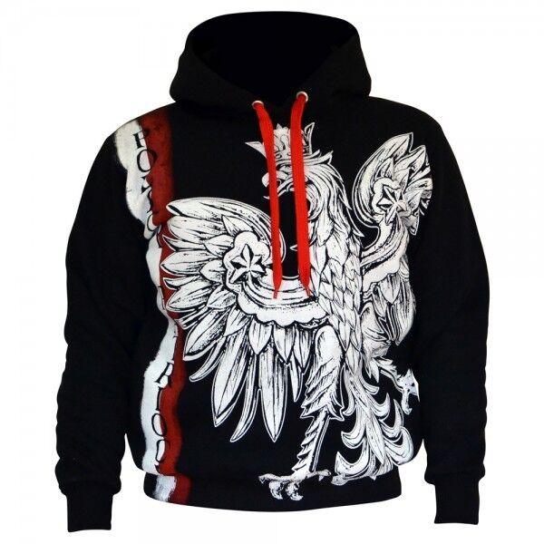 Sweatshirt Hoodie Bluza Orzeł Patriotic Eagle Poland Wielka Polska Polen Eagle