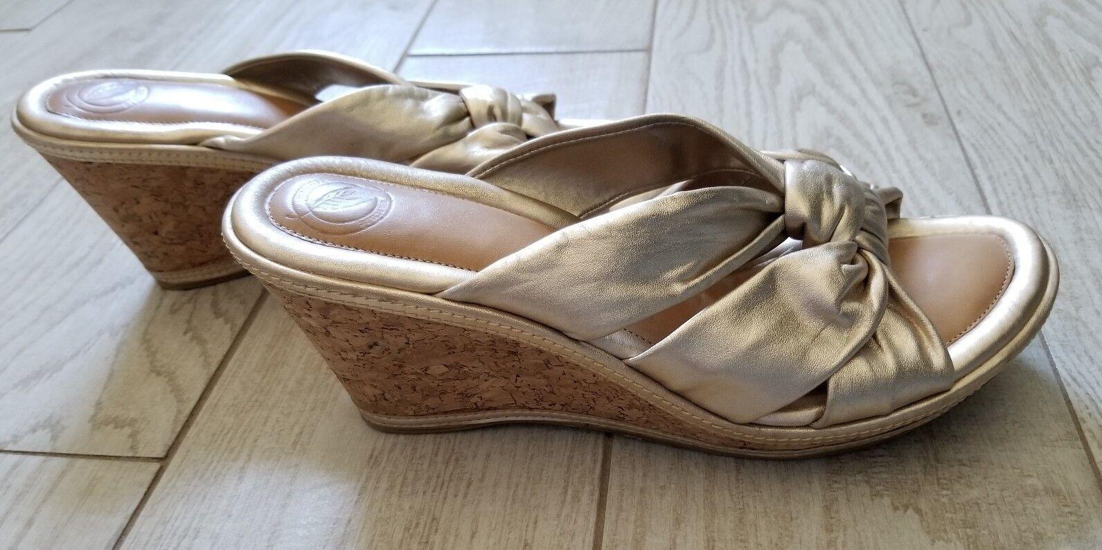 Nurture Wedge Heels Größe 9 1 2 M - Cork Cork Cork Gold - heel height 3 1 2  - Juan 050f57