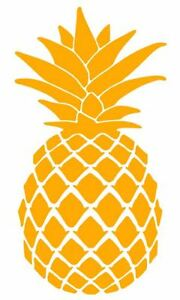 Car Window Vinyl Decal Sticker Pineapple Tropical Fruit
