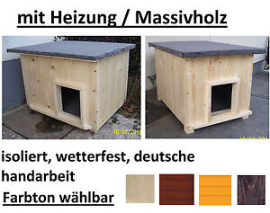 katzenh tte mit heizung katzenhaus beheizt hundeh tte wetterfest isoliert ebay. Black Bedroom Furniture Sets. Home Design Ideas