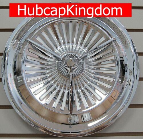 """NEW 15/"""" POLARA JET Style 3-Bar Custom Spinner Hubcaps Wheelcover SET"""