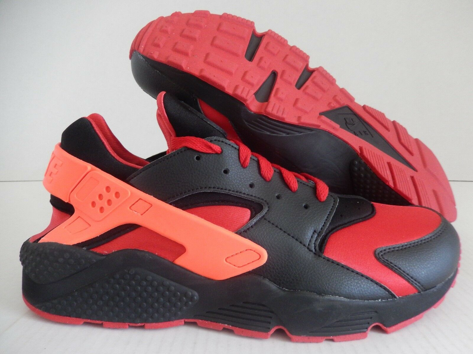 MENS NIKE AIR HUARACHE ID BLACK-RED-CRIMSON Price reduction The latest discount shoes for men and women