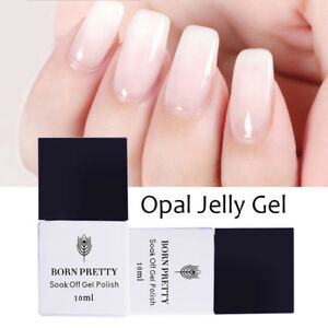 10ml-BORN-PRETTY-Opal-Jelly-UV-Gel-Nail-Polish-White-Soak-Off-Varnish