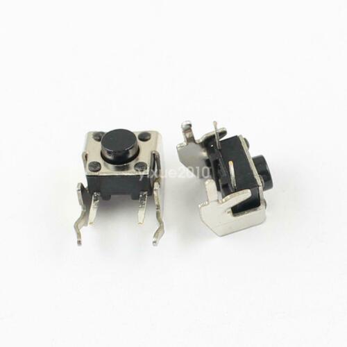 Mini bouton poussoir interrupteur CI de 6x6x4.3 mm 90° neufs. Lot au choix.