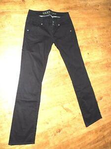 grand choix de 00af3 18c42 Détails sur GUESS pantalon femme taille basse Stretch /Coupe droite /27/  38Fr PARFAIT ETAT