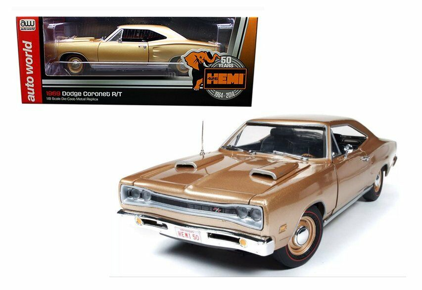 Auto World 1 18 1969 Dodge Cornet R T HEMI 50TH ANNIVERSAIRE Diecast voiture AMM1024