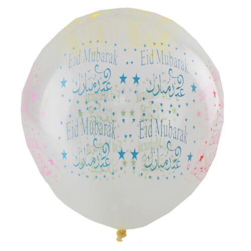 EID Mubarak Balloons /& Banners 5 Sided Large Multi-coloured Celebration Gifts