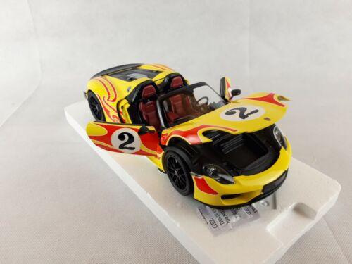 """NOUVEAU Porsche 918 Spyder Weissach P MINICHAMPS 1:18 /""""Kyalami Racing/"""" 2015"""