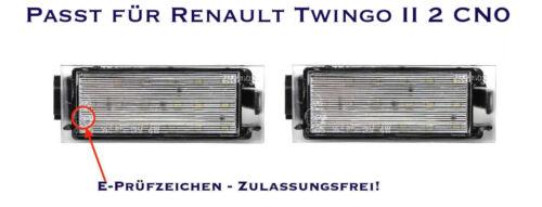 06 LED SMD Kennzeichenbeleuchtung Renault Twingo II 2 CN0