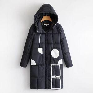 Veste-femme-duvet-a-capuche-manteau-confortable-chaud-long-black-blanc-1300