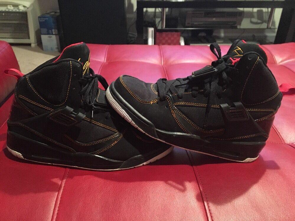 Nike Air Jordan Flight 45 Black Red 384519-006 Men's 8 Basketball Shoes B22 Cheap and beautiful fashion