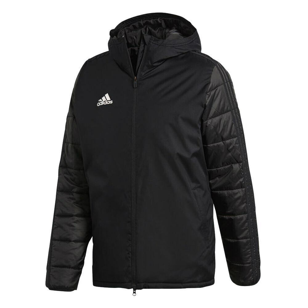 Adidas Para Hombre Deporte Fútbol Invierno Cálido Chaqueta de manga larga con cremallera superior