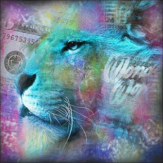 garantito Mascha de Haas  Lion II Barella-immagine Barella-immagine Barella-immagine schermo Leone moderno Felino  comprare a buon mercato