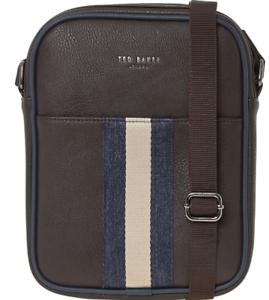 4d9ada3eebe3 TED BAKER Men's Webbing Flight Bag, Chocolate 5054787439244   eBay