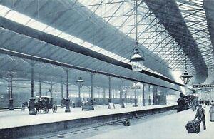 London Nostalgia Postcard c1900 Euston Train Railway Station Repro Card NS25