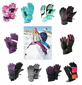 NINOS-NINAS-nieve-Guantes-Invierno-Esqui-Snowboard-Guantes