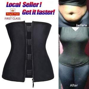 1c76396d439 Plus Size Long Torso Latex Waist Trainer Fitness Hot Body Shaper For ...
