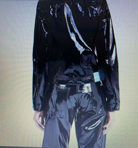 CALVIN KLEIN JEANS PANTS PATENT LEATHER PANT WOMEN