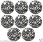 8x  2.50 mm 0.40ct  Round Cut Lab Diamond Sim Diamond WITH LIFETIME WARRANTY