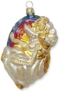 Slavic-Treasures-GOLD-RAINBOW-FLYING-ANGEL-Polish-Glass-Ornament