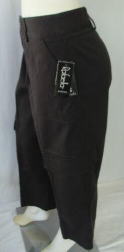 Nwt cintura Tasche Sz nero Stretch per 5 gamba Pants su 14 passanti Twill Rafaella wRf4Oqxvv1