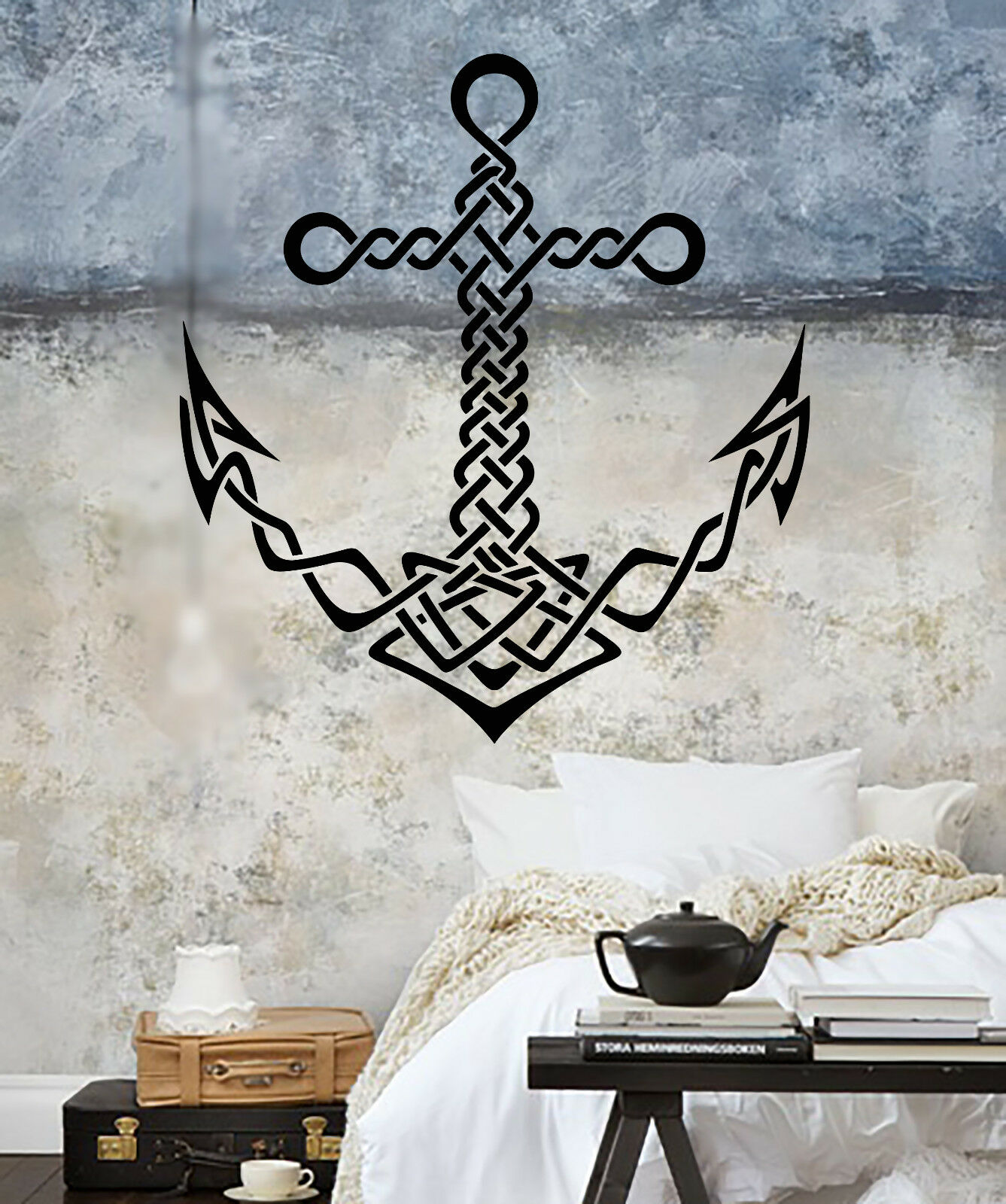 Vinyl Wall Decal Celtic Anchor Ship Sea Marine Style Sailor Stickers (1707ig)