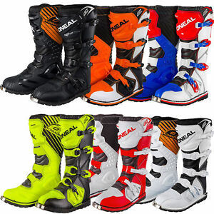 ONeal-Rider-Adult-MX-Motocross-Off-Road-Boots-Black-Red-Blue-White-Yellow-Orange