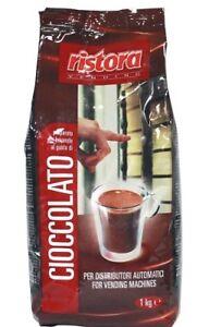 Brillant 1 Kg Cioccolato Polvere Solubile Ristora Per Distributori Bar Casa RafraîChissant Et BéNéFique Pour Les Yeux