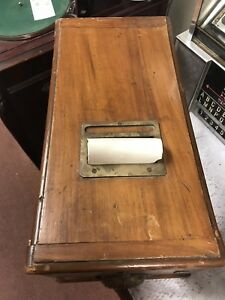 Details About Vintage Wood Country Counter Cash Drawer Till Box Register Roll