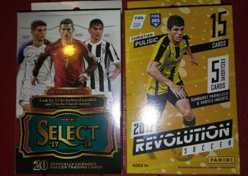 2017-18 Panini Select Revolution Soccer Hanger Box lot Chase Rare Inserts