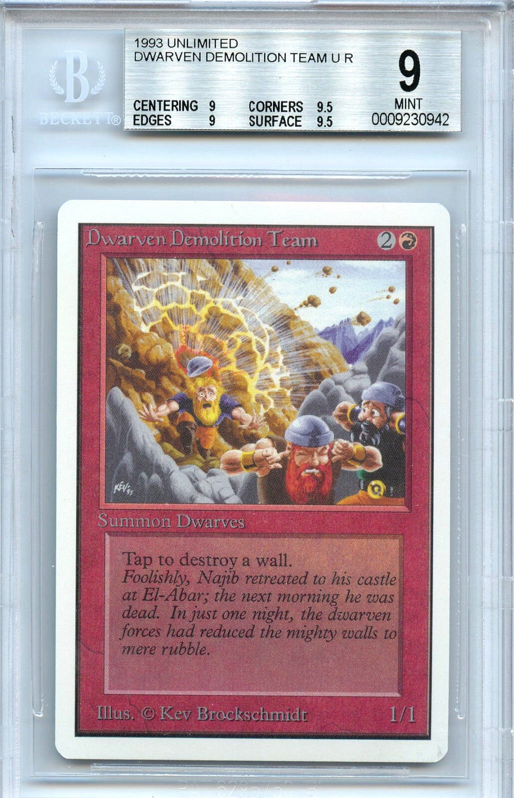 Mtg unbegrenzt demoution team um magic wotc bgs 9,0 (9) - karte 0942