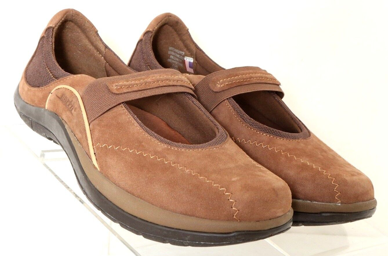Earth Encounter Brownstone Suede Slip-On Mary Jane Kalso Flats Women's US 7.5B