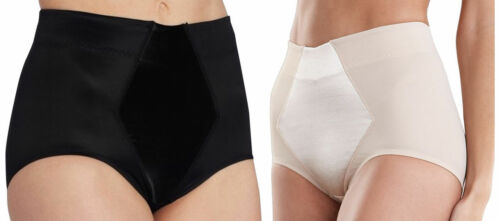 Plus Size Ladies Nude Black Satin Control brief hold in shape wear 10-24 Slim