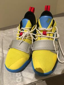 cheap for discount 08e85 b30b7 Details about Nike PG 2.5 Amarillo Chrome Multi color Sneakers Youth Size  6. Worn Once!