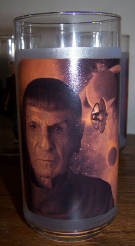 NEW 2009 BOXED! Set of 4 STAR TREK COLLECTIBLE GLASSES