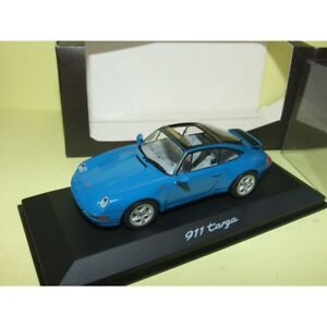 PORSCHE-911-TARGA-993-Vert-Bleu-Metallic-MINICHAMPS-1-43-Boitage-porsche