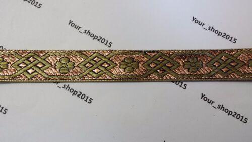 Beautiful stylish embroidered pattern lace trimming Ribbon making craft 1 Yard