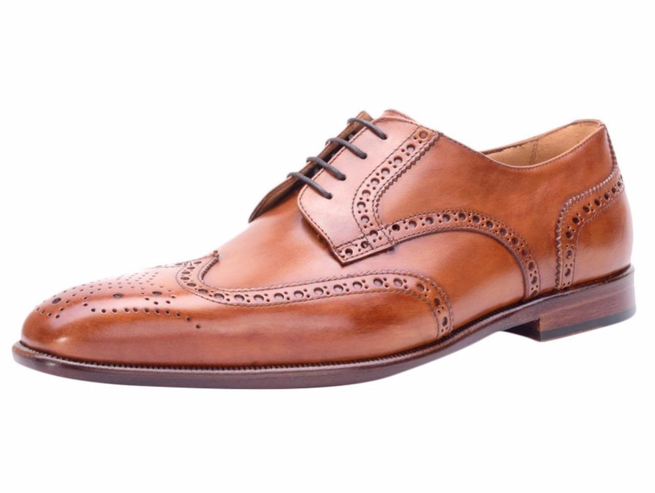 New in Box- Curatore Abbott Siena Wingtip Derby Leather Oxford Size 13 (46)