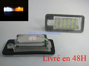 feux de plaque pour  Audi A6  c5 c6 c7 4 ampoules à LED Blanc veilleuses